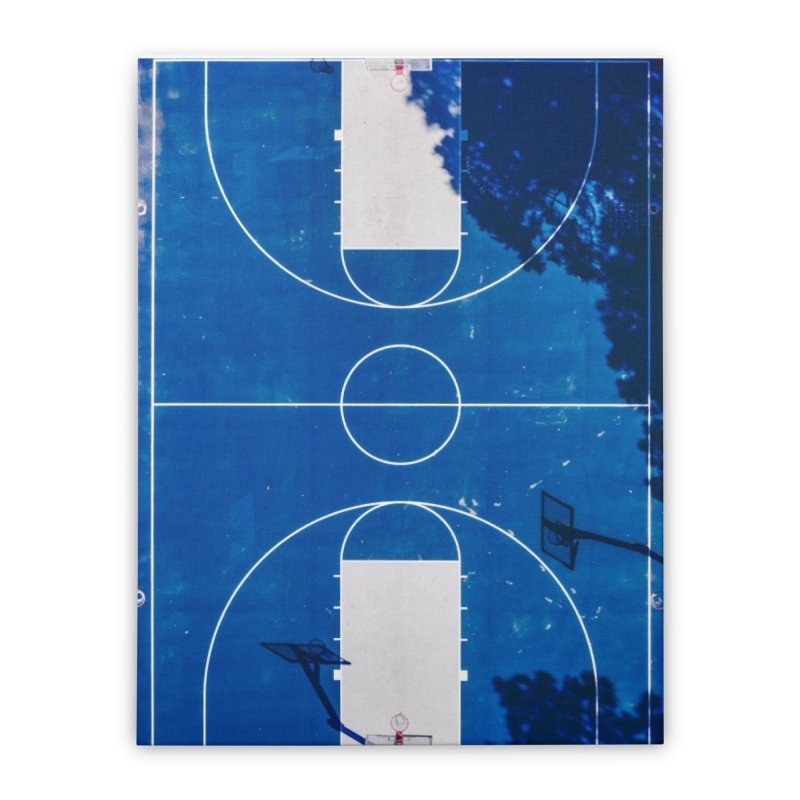 Blue Hoops Home Stretched Canvas by AirStory's Shop