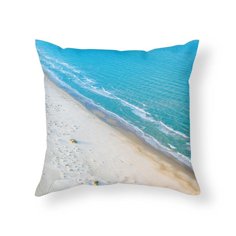 Ocean Split Home Throw Pillow by AirStory's Shop