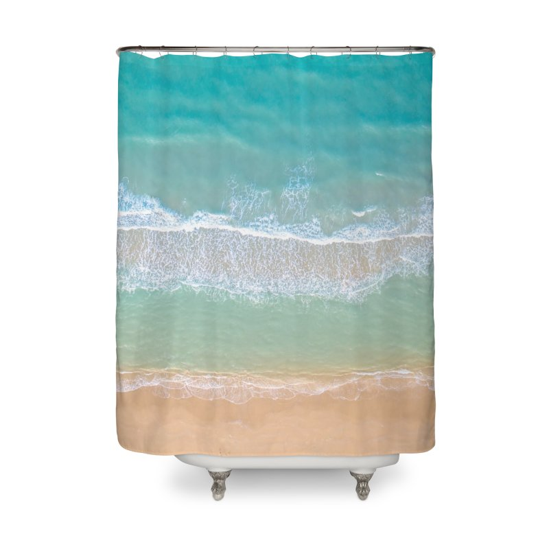 Soft Waves Home Shower Curtain by AirStory's Shop