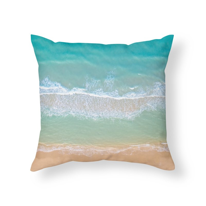 Soft Waves Home Throw Pillow by AirStory's Shop