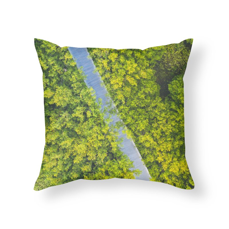 Nature Walk Home Throw Pillow by AirStory's Shop