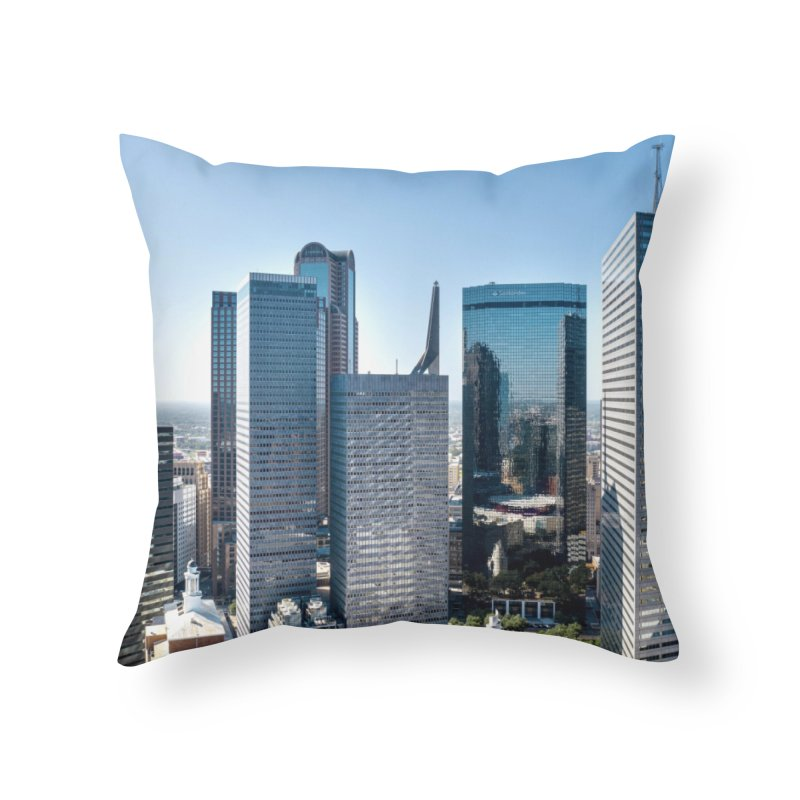 Downtown Dallas Home Throw Pillow by AirStory's Shop
