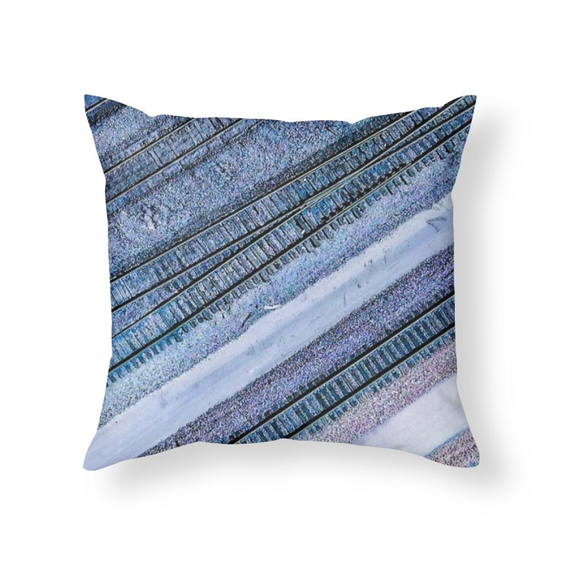 Purple Tracks Home Throw Pillow by AirStory's Shop