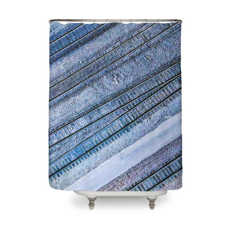 Purple Tracks Home Shower Curtain by AirStory's Shop