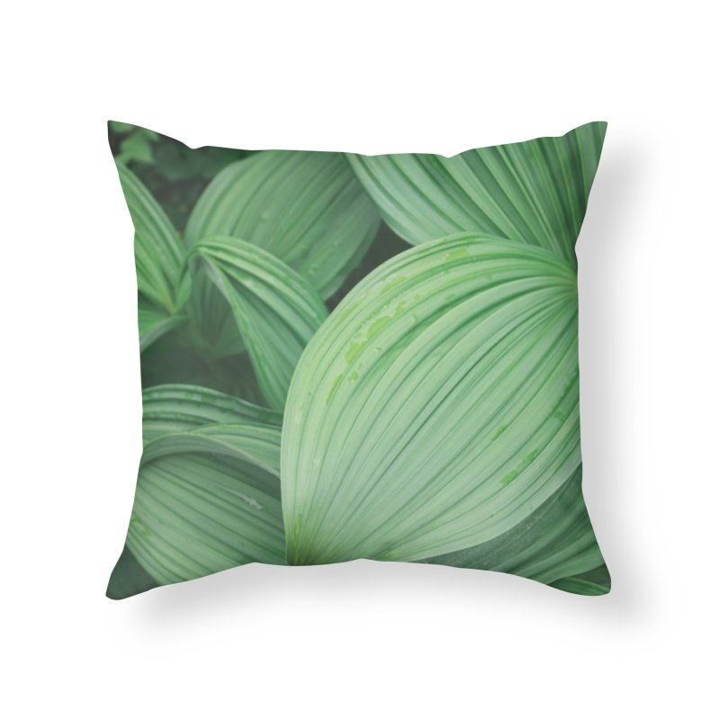 Leafy Textures Home Throw Pillow by AirStory's Shop