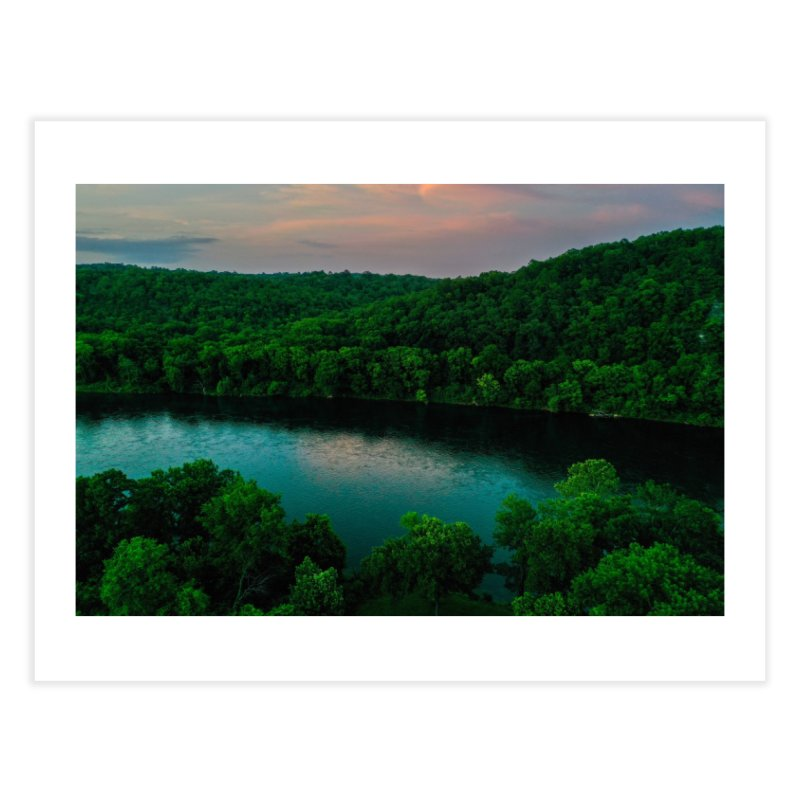 White River Sunset Home Fine Art Print by AirStory's Shop
