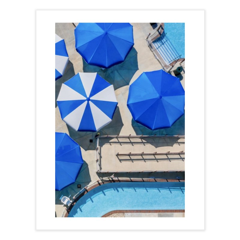 Shades of Blue Home Fine Art Print by AirStory's Shop