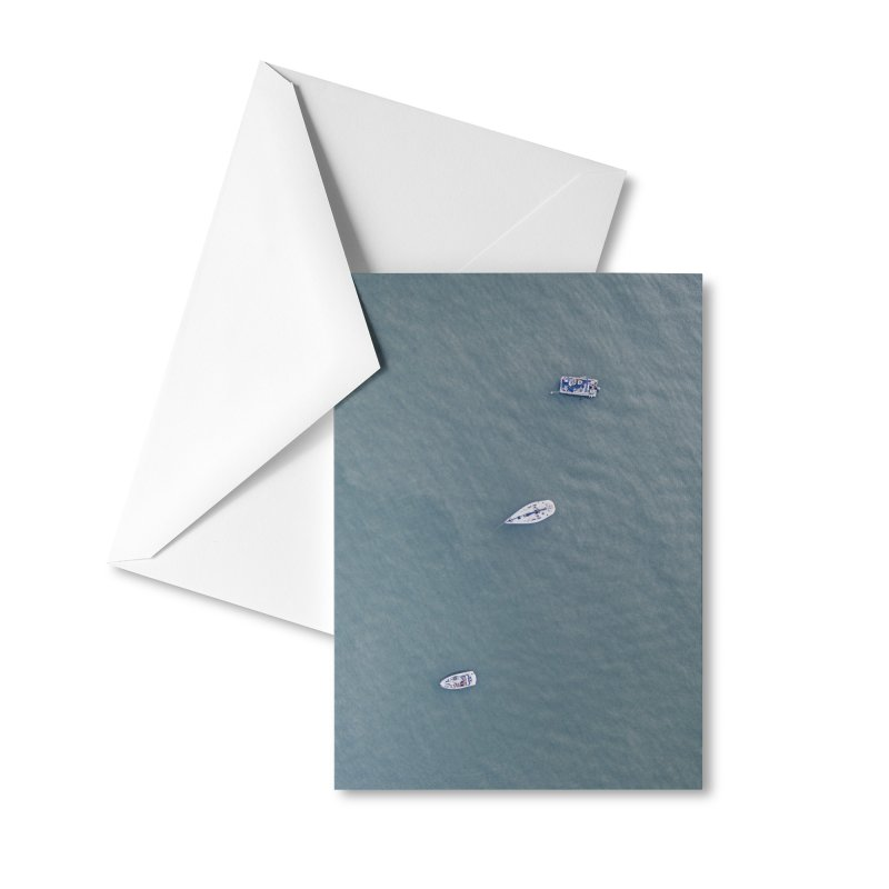 Boat Blues Accessories Greeting Card by AirStory's Shop