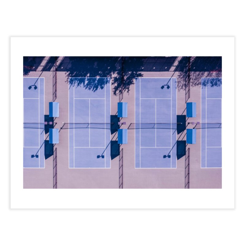 Pastel Courts Home Fine Art Print by AirStory's Shop