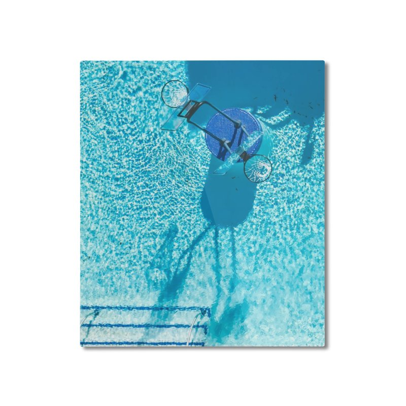 Pool Hoops Home Mounted Aluminum Print by AirStory's Shop