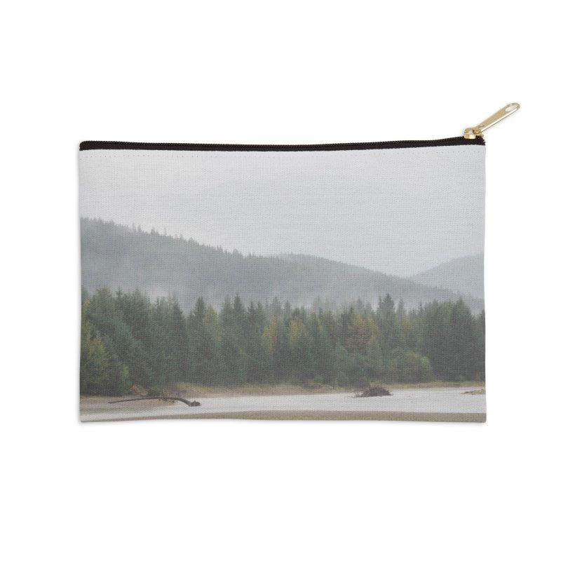 Foggy Landscape Accessories Zip Pouch by AirStory's Shop