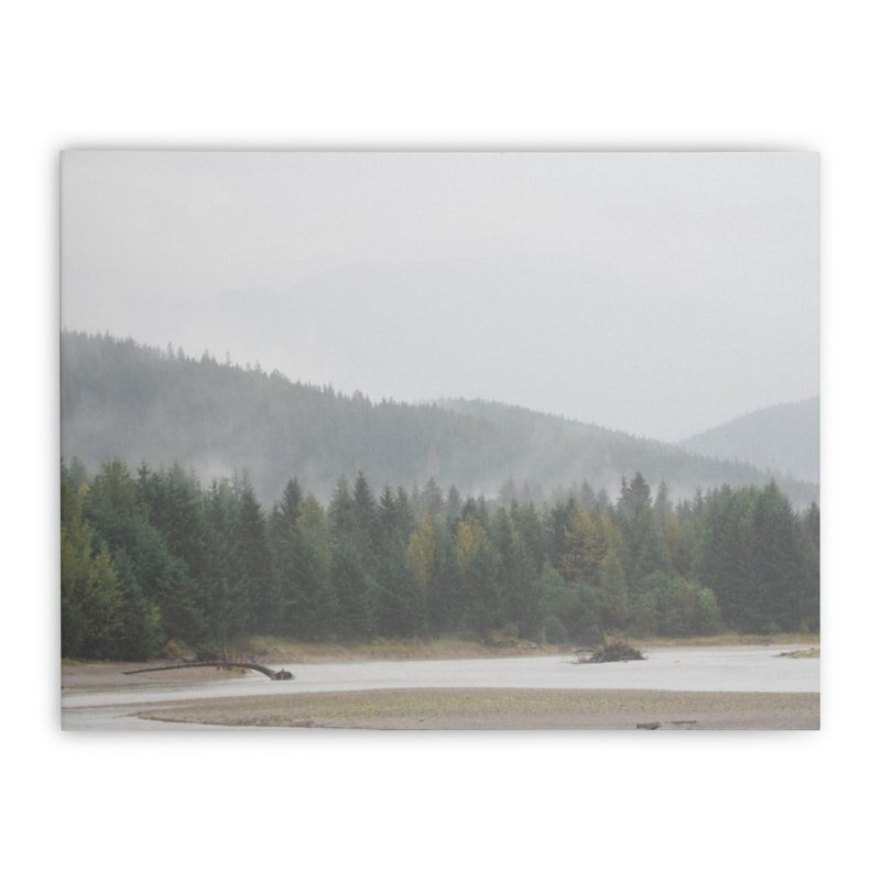 Foggy Landscape Home Stretched Canvas by AirStory's Shop