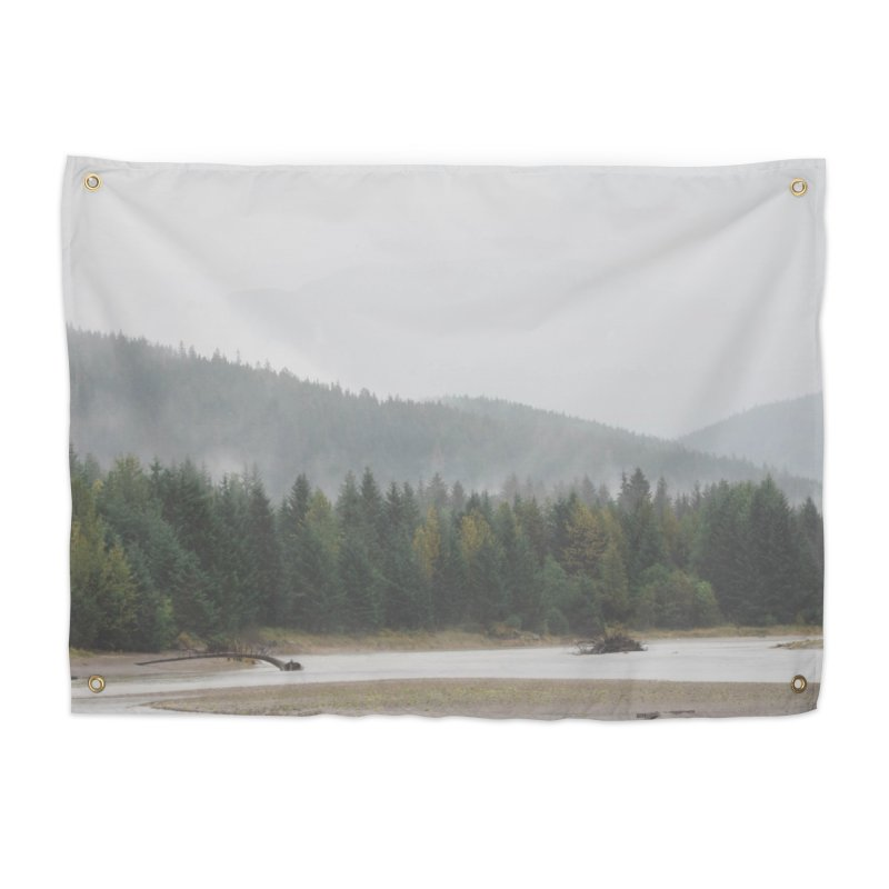 Foggy Landscape Home Tapestry by AirStory's Shop