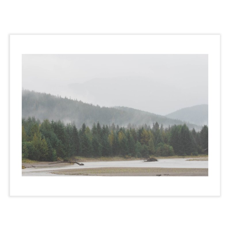 Foggy Landscape Home Fine Art Print by AirStory's Shop