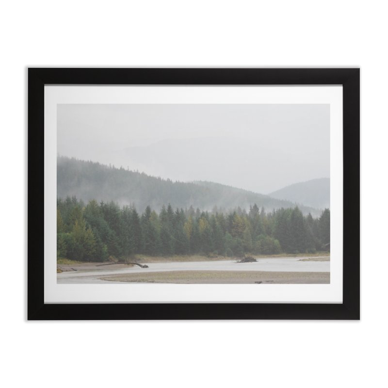 Foggy Landscape Home Framed Fine Art Print by AirStory's Shop
