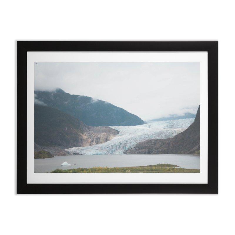 Glacier Views Home Framed Fine Art Print by AirStory's Shop