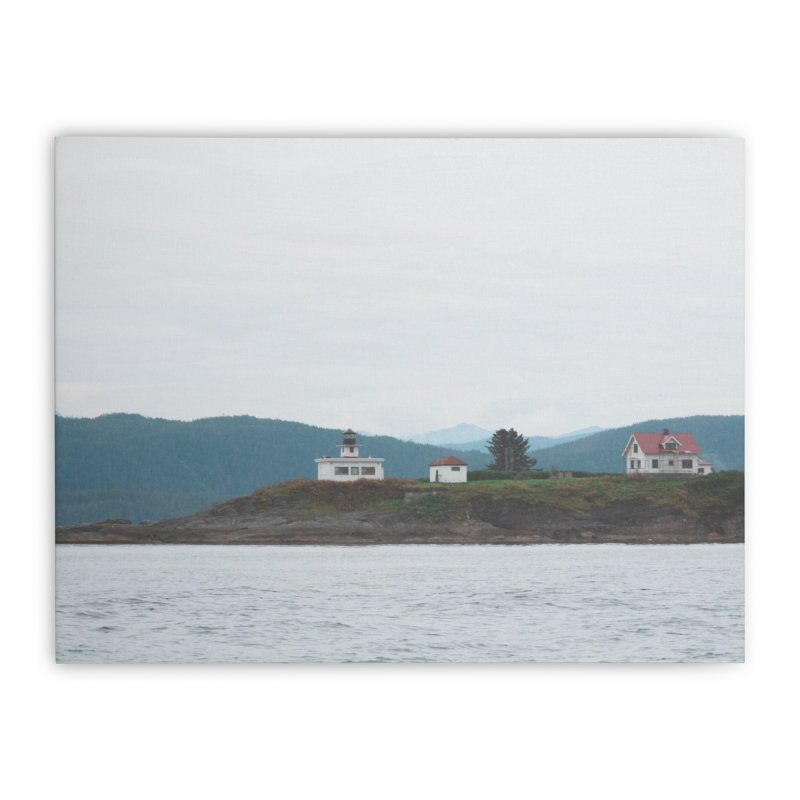 Village Bluff Home Stretched Canvas by AirStory's Shop