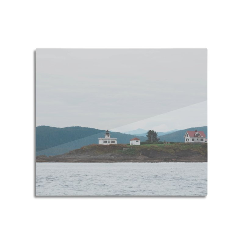 Village Bluff Home Mounted Aluminum Print by AirStory's Shop