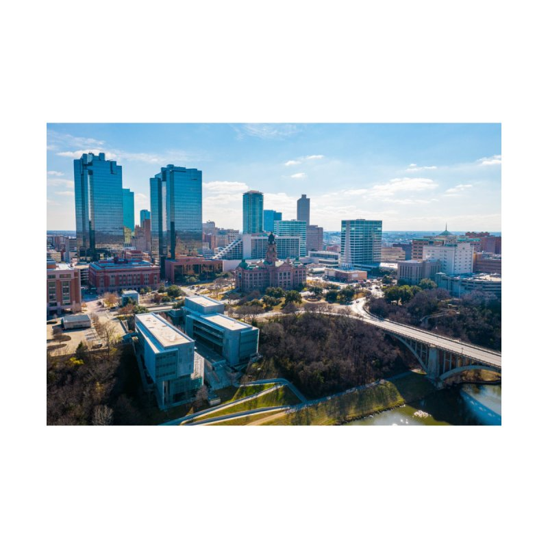 Cowtown Skyline Home Mounted Acrylic Print by AirStory's Shop