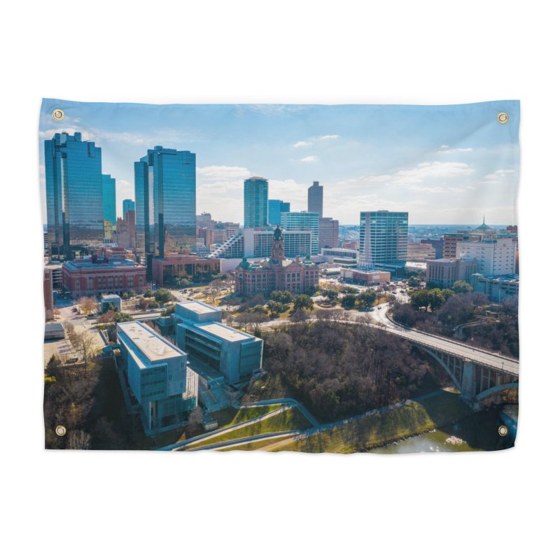 Cowtown Skyline Home Tapestry by AirStory's Shop