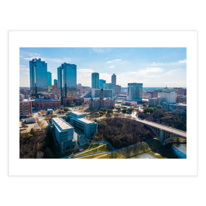 Cowtown Skyline Home Fine Art Print by AirStory's Shop
