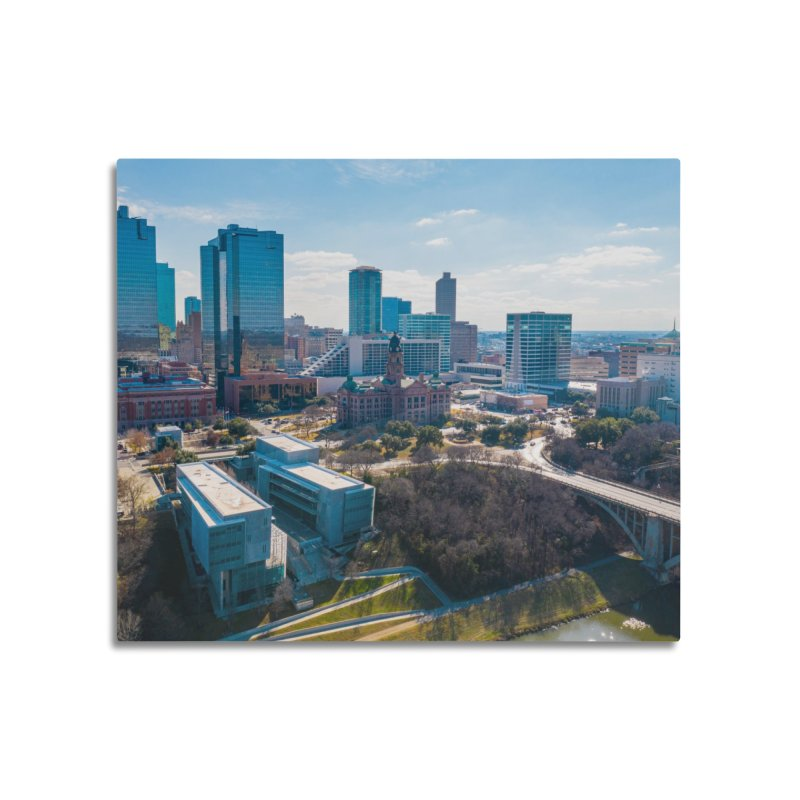 Cowtown Skyline Home Mounted Aluminum Print by AirStory's Shop