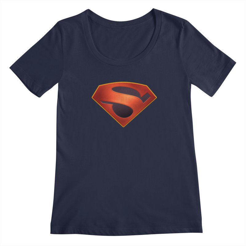 shield  Women's Scoopneck by ajeyes's Artist Shop