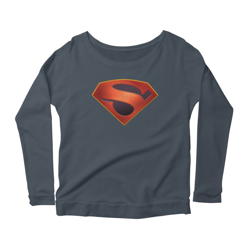 shield  Women's Longsleeve Scoopneck  by ajeyes's Artist Shop