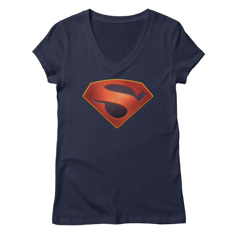 shield  Women's Regular V-Neck by ajeyes's Artist Shop