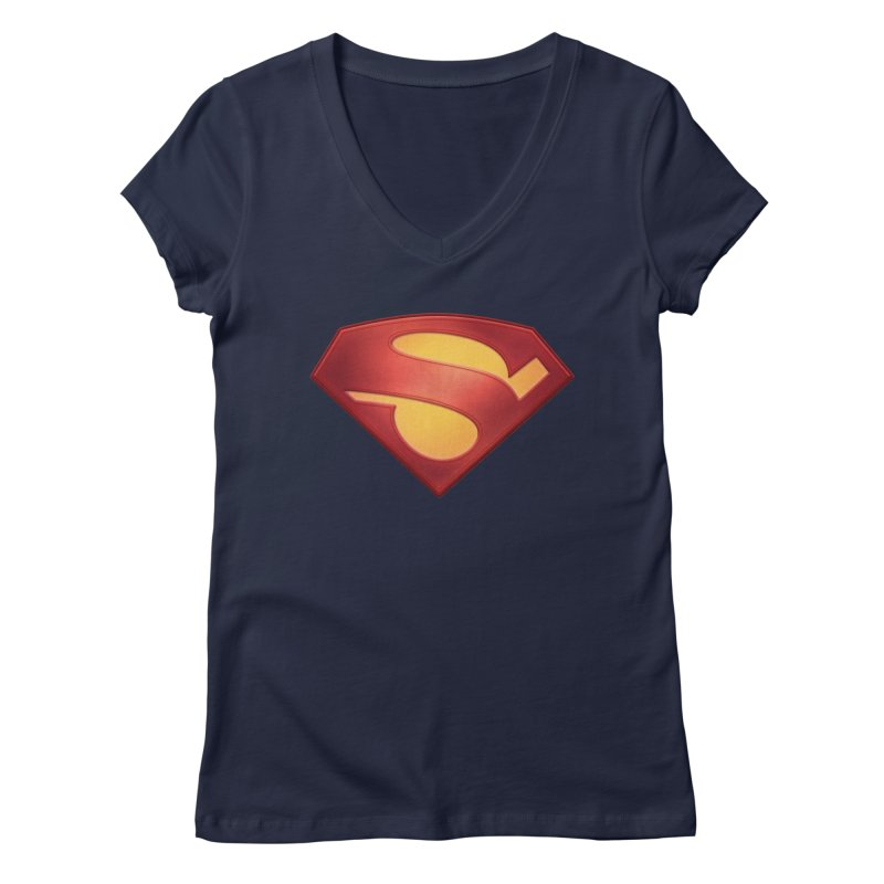 \S/ Women's Regular V-Neck by ajeyes's Artist Shop