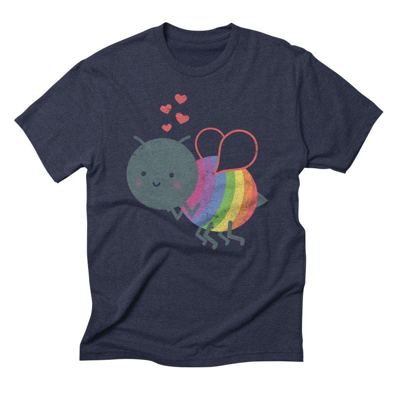 Bee Yourself! Men's Triblend T-shirt by Akaka