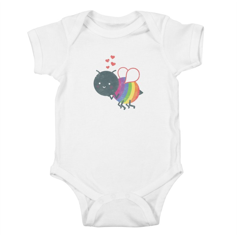 Bee Yourself! Kids Baby Bodysuit by Akaka