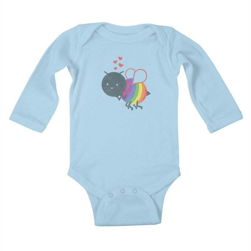 Bee Yourself! Kids Baby Longsleeve Bodysuit by Akaka