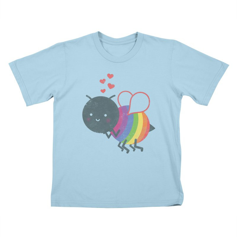 Bee Yourself! Kids T-Shirt by Akaka