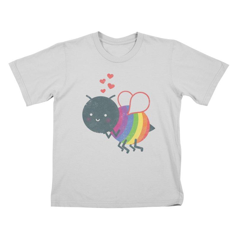 Bee Yourself! Kids T-Shirt by Akaka