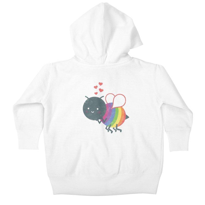 Bee Yourself! Kids Baby Zip-Up Hoody by Akaka