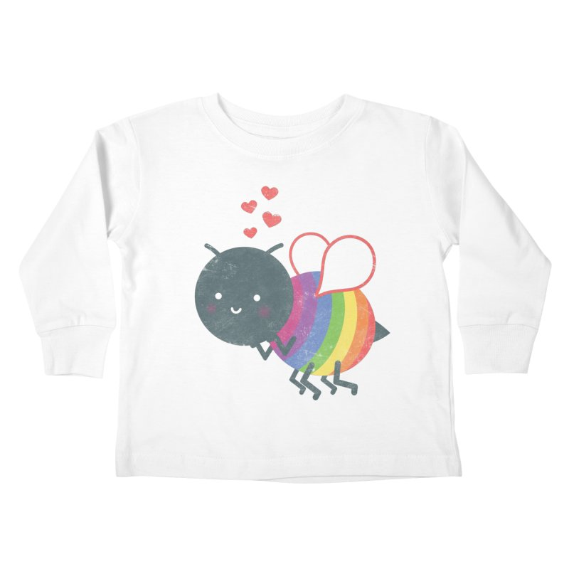 Bee Yourself! Kids Toddler Longsleeve T-Shirt by Akaka