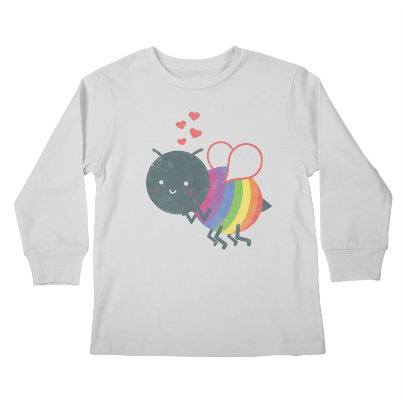 Bee Yourself! Kids Longsleeve T-Shirt by Akaka