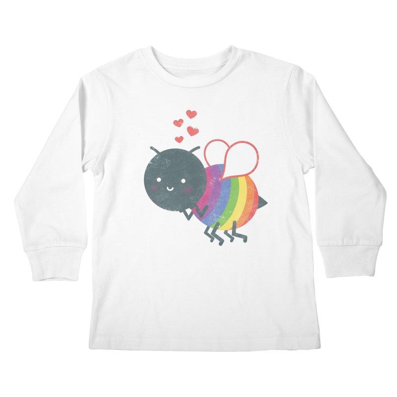 Bee Yourself! Kids Longsleeve T-Shirt by Akaka