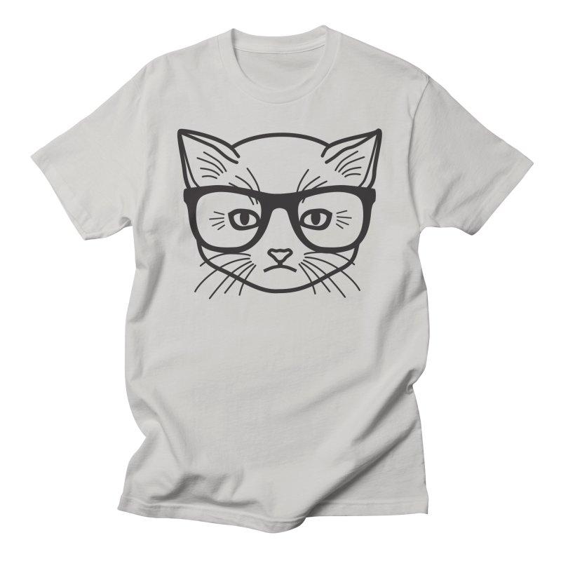 Smart Kitty Men's T-Shirt by Akaka