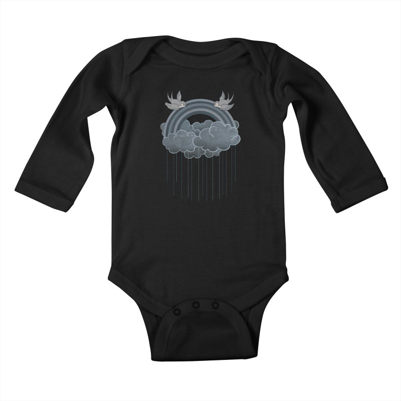 Doom & Gloom Kids Baby Longsleeve Bodysuit by Akaka