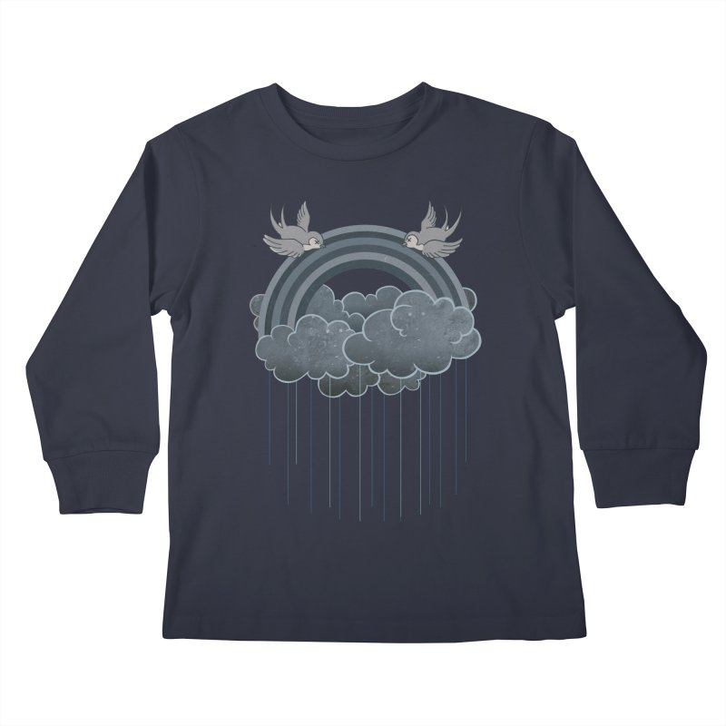 Doom & Gloom Kids Longsleeve T-Shirt by Akaka