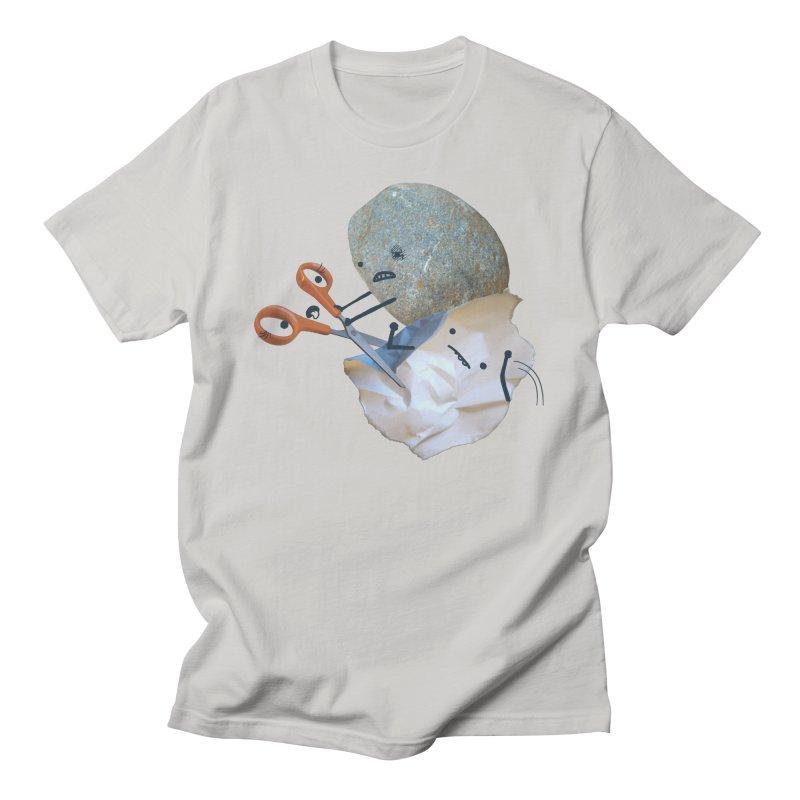 Rock vs. Paper vs. Scissors Men's T-Shirt by Akaka