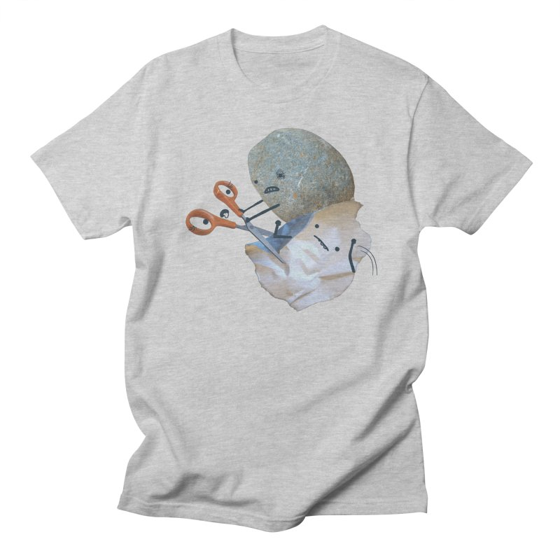 Rock vs. Paper vs. Scissors Men's Regular T-Shirt by Akaka
