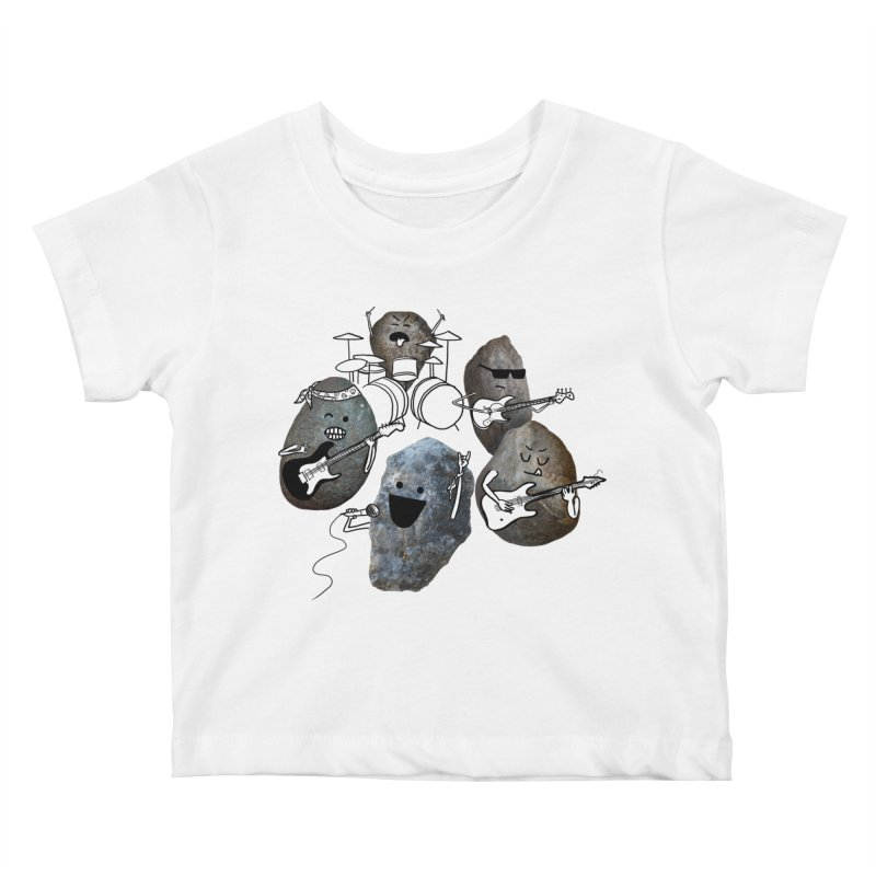 Rock Band Kids Baby T-Shirt by Akaka