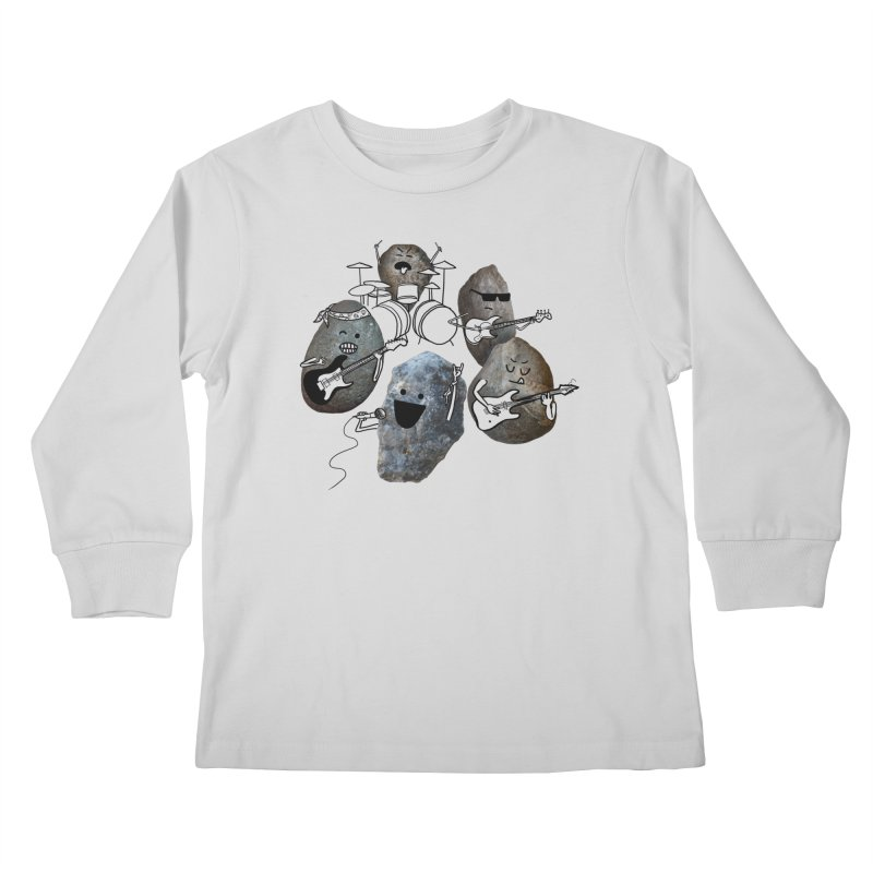 Rock Band Kids Longsleeve T-Shirt by Akaka