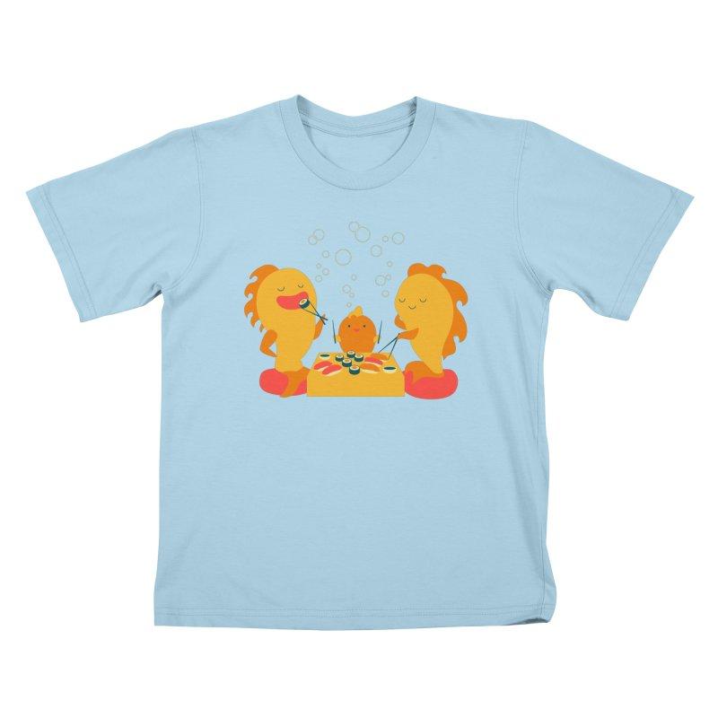 Sushi Lovers Kids T-Shirt by Akaka