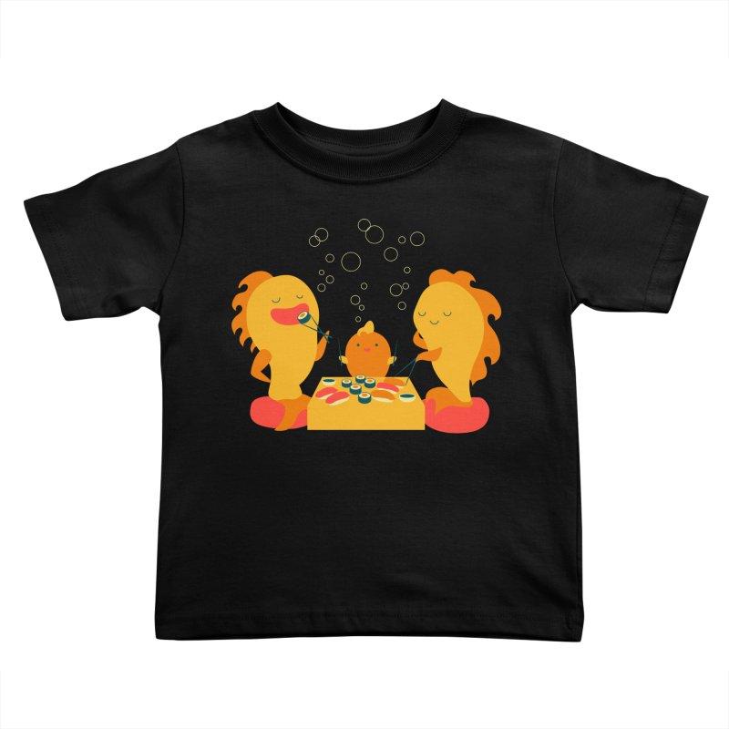 Sushi Lovers Kids Toddler T-Shirt by Akaka