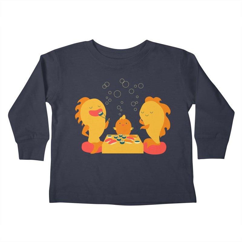Sushi Lovers Kids Toddler Longsleeve T-Shirt by Akaka
