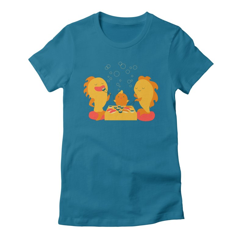 Sushi Lovers Women's Fitted T-Shirt by Akaka